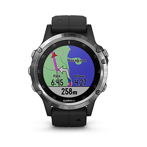 Garmin Fenix 5 Plus Schwarz Multisport-Smartwatch – Europakarte, Musikplayer,...