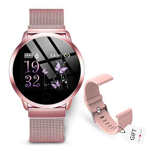 GOKOO Smartwatch Fitness Tracker Armbanduhr Aktivitätstracker Damen Frauen mit...