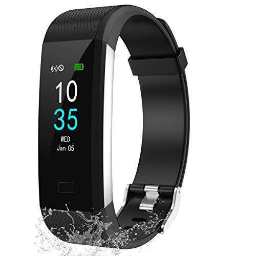 LEBEXY Fitness Armband Schrittzähler, Fitness Tracker mit Herzfrequenzmesser...