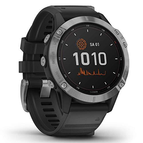 Garmin fenix 6 Solar – GPS-Multisport-Smartwatch mit Solar-Ladefunktion für bis zu...