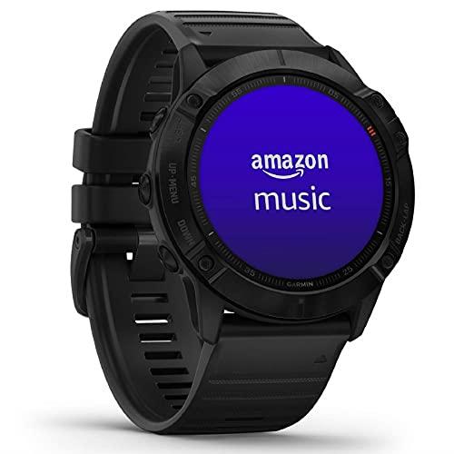 Garmin fenix 6X PRO - GPS-Multisport-Smartwatch mit Sport-Apps, 1,4' Display und...
