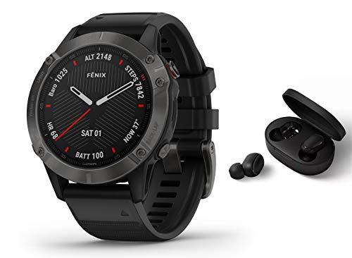 Garmin Fenix 6 Pro Saphir/Sapphire - GPS Multisportuhr - schwarz inkl. Bluetooth...
