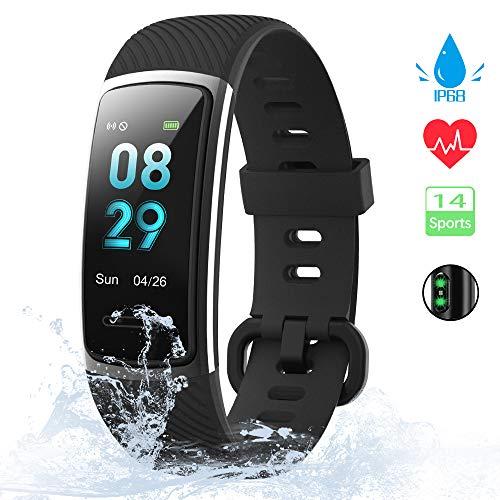 [Neuestes Modell] Fitness Tracker, KUNGIX Schrittzähler Uhr IP68 Wasserdicht...